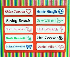 Personalised Iron On Name Labels for Clothing / School Name Tags