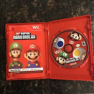 Nintendo Wii New Super Mario Bros. Wii Tested/Working With Instructions