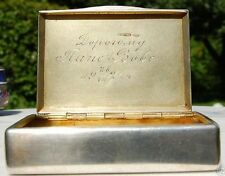 OLD GENUINE GRACHEV SILVER 84 CIGARETTE CASE RUSSIAN IMPERIAL ANTIQUE BOX RUSSIA