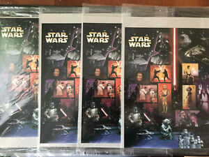 STARS WARS Stamps - 4 Sheets of 15, .41 cent stamps, MNH - Sealed