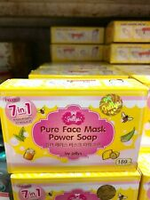 100% GENUINE NEW PURE FACE MASK POWER SOAP BY JELLY WITH COLLAGEN&VIT C 80 G.