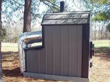 WaterLess Wood Outdoor Burner Furnace Forced Air -No Rust! No chemicals! 4000 sf