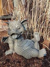 "Drache ""Glücklicher Tag"" Gartendrachen Drachenfiguren Drache Figur Garten Deko"