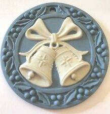 ��Vintage Wedgwood Christmas Bells 🔔 Ornament 🎄 1991 Jasperware Disc w/ Box��