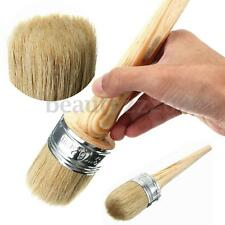 50mm Bristle Chalk Oil Painting Watercolor Wax Paint Brush Round Wooden Handle