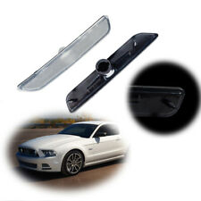Clear Lens Front Bumper Side Marker Light Housing Cover For 2010-14 Ford Mustang