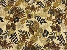 Pacific island feel tropical leaves flowers fabric cotton W140cm decorator