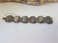 Rare antique chinese export Pierre Blanche Bracelets 56.8 G