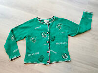 Green Spartans Football Michigan State Women's Sweater Cardigan M 90's Castles