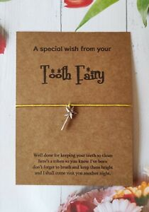 Tooth Fairy Child Wish Bracelet with Wand Charm