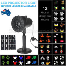 Waterproof 12 Patterns Laser Projector Light Garden Outdoor Xmas Party Lights