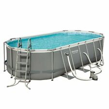 New Bestway Power Steel 18ft x 9ft x 48in Above Ground Swimming Pool with Pump