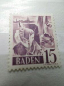 FRANCE 1947 OCCUPATION ALLEMAGNE BADE, timbre n° 5, neuf**, VF STAMP