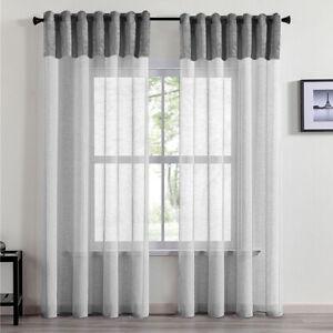 Tulle curtain panel Velvet Voile Net Eyelet Ring Top Panels Curtains durable