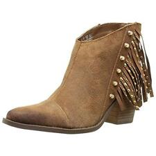 Fergie  Womens Bennie Brown Leather Ankle Boots Shoes 6.5 Medium