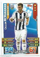 2015 / 2016 EPL Match Attax Base Card (332) Callum McMANAMAN West Bromich