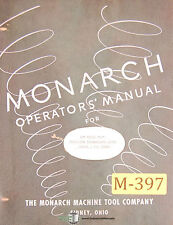 """Monarch 10"""" EE, Precision Toolmakers Lathe Operations and Parts Manual 1953"""