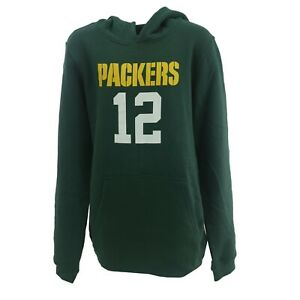 Green Bay Packers NFL Aaron Rodgers Kids Youth Size Hooded Sweatshirt New