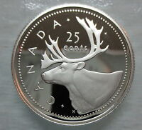 2002 CANADA 25 CENTS PROOF SILVER QUARTER HEAVY CAMEO COIN