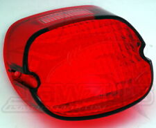 Laydown Taillight Lens with Top Tag Window Drag Specialties Red 12-0018C-BC446