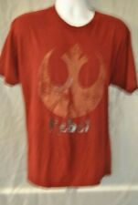 Men's T-Shirt by Star Wars size X-Large (46-48) Rust in Color with the words;