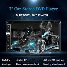 "Double 2 Din 7"" HD Stereo Car DVD CD MP3 Player Bluetooth Radio TF/USB HD TFT AP"