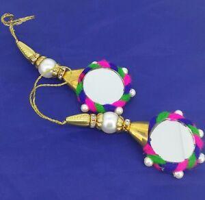 Banjara Mirror Latkan Tribal Tassel Saree Blouse Hand bag Sewing Craft 1 Pair
