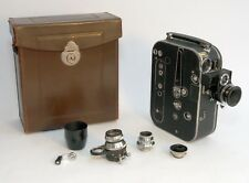 Zeiss Ikon Movikon 16 film camera with 4 lenses, hood, crank, leather case