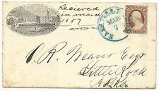 US Scott #11 on Cover CSA Use Nashville, TN Western Military Institute Pre-War