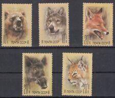 Sowjetunion 5877 - 5881 postfrisch Hilfsfonds für die sowjetischen Tiergärten