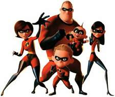 Walt Disney Pixar Studios THE INCREDIBLES Group Shot -Window Cling Decal Sticker