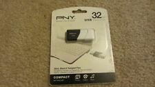 PNY 32GB USB 2.0 Flash Drive, Compact Attache