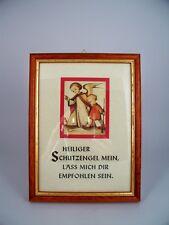 HUMMEL SCHUTZENGEL SPRUCH BILD Holzrahmen 20 x 15 cm neu. Engel Bilder Engelbild