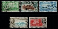 Barbados 1950 King George VI selection to 24c SG272-73, 276-78 Used