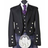 Prince Charlie Jacket With Five Button Vest 100% Wool Custom Made Kilt Jacket