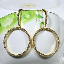 18K Yellow Gold Filled Clear CZ Women Fashion Jewelry Drop Dangle Earrings E5089
