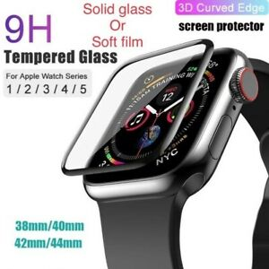 For Apple Watch Tempered Glass /Film Full Screen Protector 38-44mm Series 3456SE