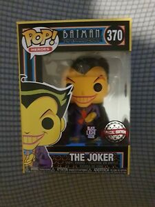 Funko Pop Batman Animated Series: The Joker Blacklight Glow 370 New In Box