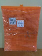 Darice 12 Pack Plastic Canvas 10.5 x 13.5 Inch Orange
