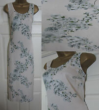 NEW M&S Autograph Floral Midi Dress Summer Sleeveless Blush Ivory Grey 6-16
