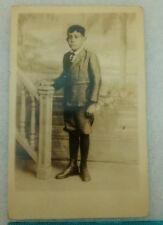 Young Adolescent Puerto Rico Vintage RPPC Photo Post Card 1925 3.5 x 5.5 inches