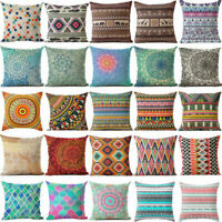 Boho Abstract Geometric Cotton Linen Pillow Case Cushion Cover Home Decor Gift