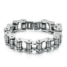 Titanium Steel Men's Bracelet Bike Link Chain Wristband Bangle Jewelry Utility