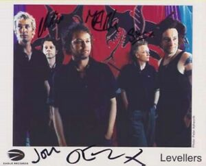 The Levellers - Singers - Signed Photo - COA (13829)