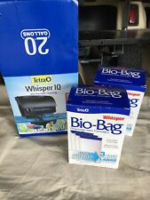 Tetra Whisper IQ Stay Clean Technology 20 Gallons 5 Large Cartridges Fish Tank