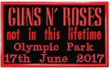 Guns n Roses Not In This Lifetime Tour 2017. Souvenir Embroidered Cloth Patch