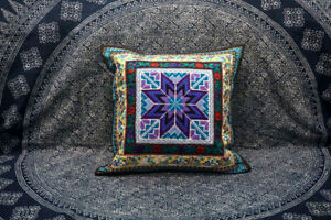 Handmade Embroidered Cotton Decorative Sofa Couch Cushion Cover Pillow Case #211