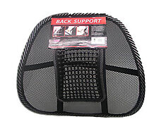 Car/Seat/Chair/Office Massage Lumbar Back Brace Mesh Cushion Support With Beads