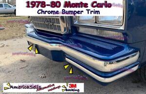 78 79 80 CHEVY MONTE CARLO  CHROME BUMPER TRIM MOLDING