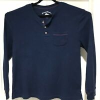 Tommy Bahama Mens XL Henley Shirt/Sweater Cotton Polyester Blend Blue